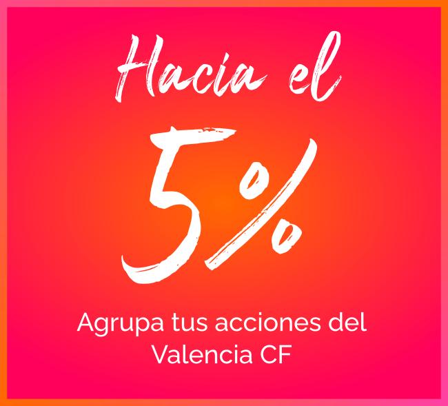 5% agrupar acciones valencia cf